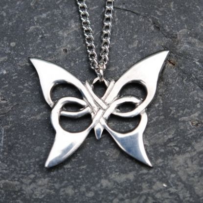 Celtic butterfly pendant necklace P15